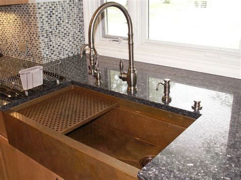 custom kitchen faucets copper farmhouse sink by rachiele traditional kitchen