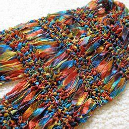 free crochet pattern ribbon yarn ribbon yarn stitch piece n purl