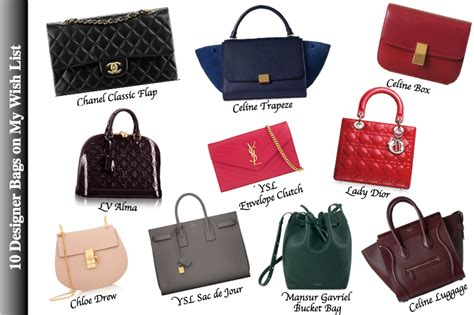 Top 10 Things For Your Bag by Top 10 Designer Handbags On My Wish List 2015 Happy