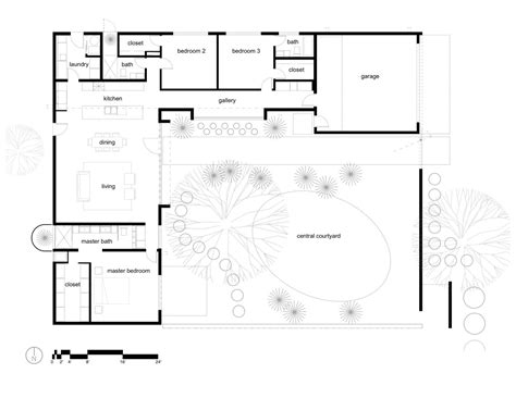 great courtyard u shaped in c shaped house plans ushaped