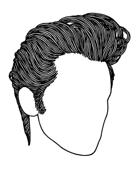 How To Draw A Pompadour | rockabilly haircut hairstyle for men high shine slicked