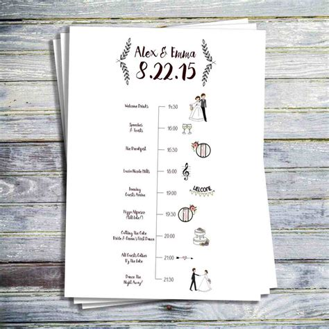ordering a celebration of card template wedding day order of events midway media
