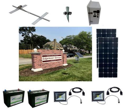 solar lighting for signs solar sign light kit 11 sun in one