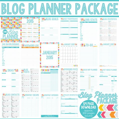 blogger journal all new 2016 blog planners day planners and menu