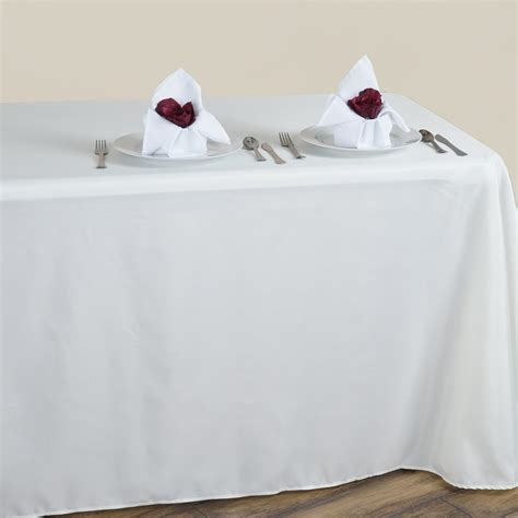 90 Quot X 156 Quot Polyester Tablecloth With Rounded Corners