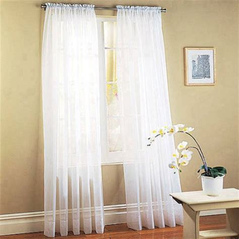 Window Sheer Curtains Mainstays Marjorie Sheer Voile Curtain Panel Walmart