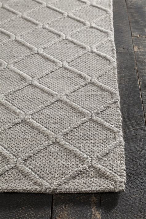 Sujan Collection Hand Woven Area Rug In Grey Design By Woven Area Rugs
