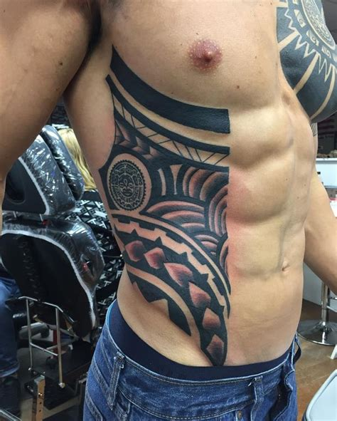tribal tattoos on ribs cool rib tattoos for and guys rib cage
