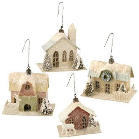 house ornaments vintage paper house ornament for