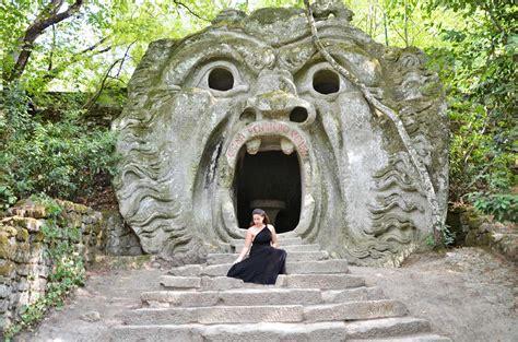 giardino dei mostri di bomarzo boschi sacri e massi scolpiti visita al parco dei mostri