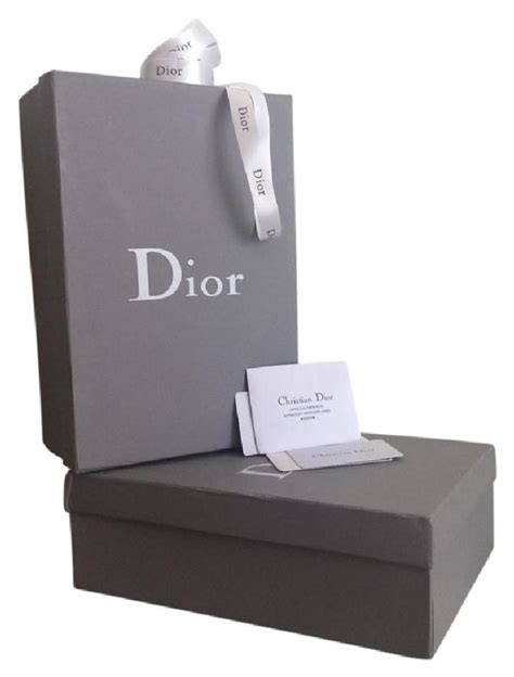 Dior Gift Card - dior gray set of 2 shoe boxes with care cards and gift ribbon tradesy