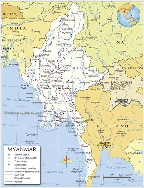 where is myanmar on the map http www nationsonline org maps myanmar map jpg