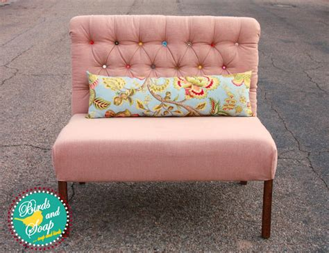 free settees ana white upholstered settee diy projects