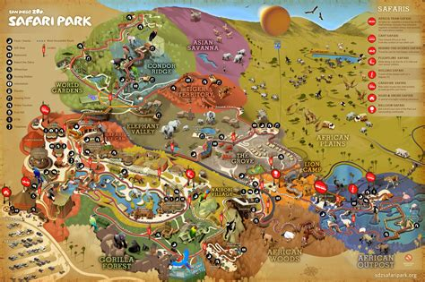 map san diego zoo safari park bill and kit s 2015 excellent adventure journal 7