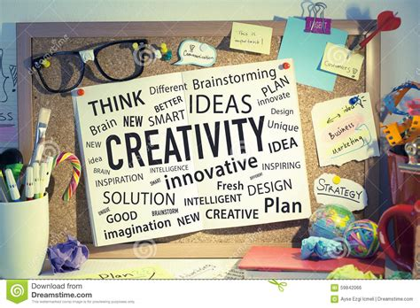different ideas creativity innovation ideas business solutions stock photo