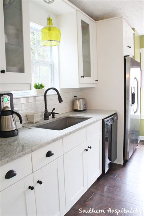 White Cabinets Gray Walls by Sink Side