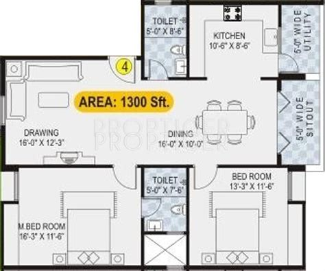 1300 sq ft apartment floor plan 1300 sq ft 2 bhk floor plan image lotus developers