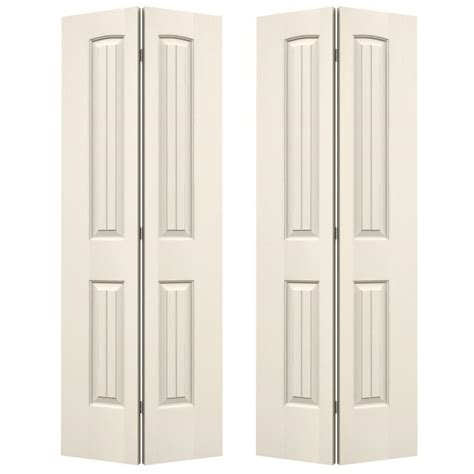 jeld wen 72 in x 80 in smooth 2 panel plank arch top
