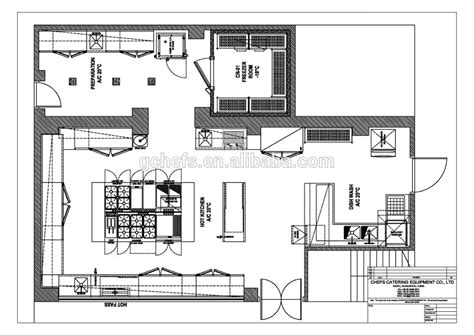 layout dapur catering restaurante cocina dise 241 o franc 233 s profesional en el