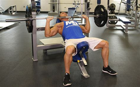 incline bench presses incline bench press video exercise guide tips