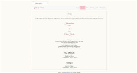 template denah undangan desain undangan online vibes desain simple