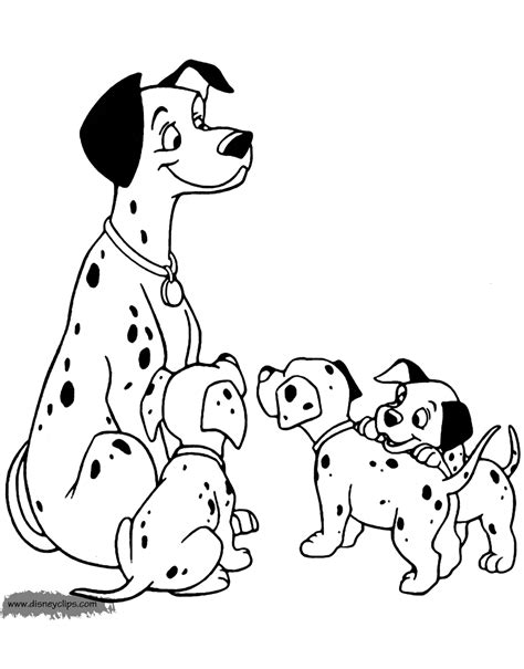 101 dalmatians coloring pages disney coloring book