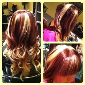 Thinking to get red hair with blonde highlights read this hair dye