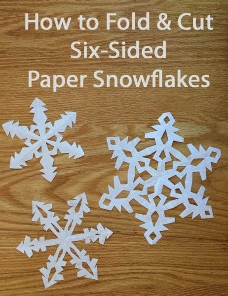 Paper Folding And Cutting - for paper snowflakes an easy