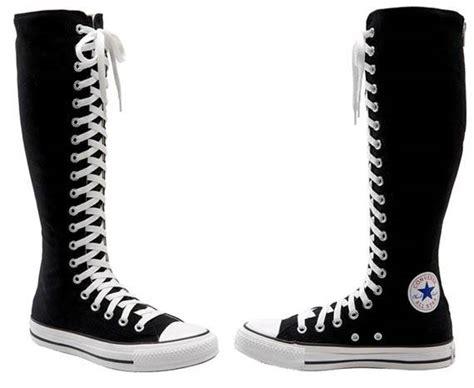 converse black white canvas all xxhi knee high 20