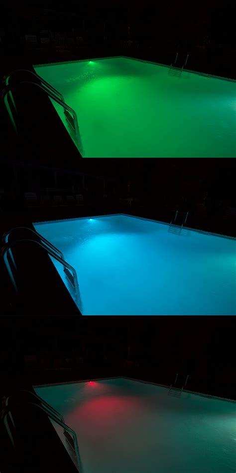 rgb led underwater pool lights and pond lights