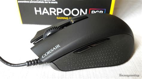 Mouse Corsair Harpoon Rgb corsair harpoon rgb gaming mouse tecnogaming