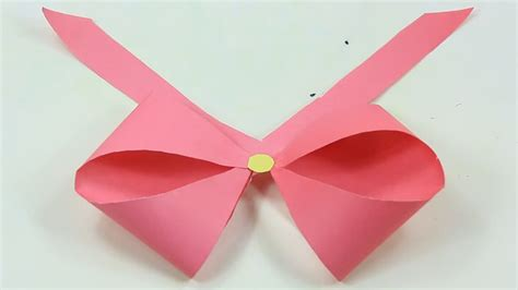 Origami With Ribbon - how to make a paper bow ribbon easy origami bow ribbons