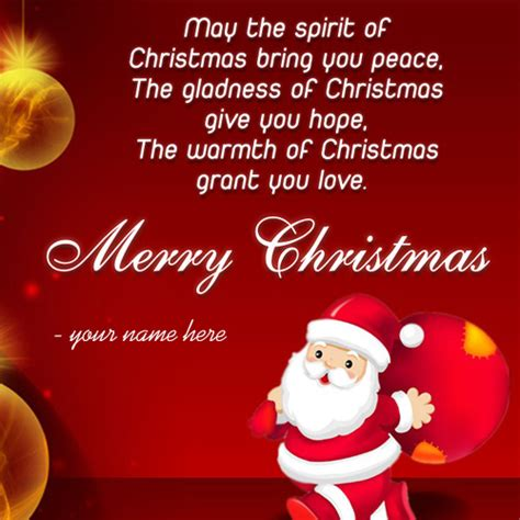 write   merry christmas wishes greeting card