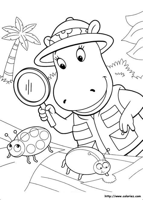 Coloriage Coloriage De Tasha Et Les Insectes Coloriage A Imprimer Pour Enfant L