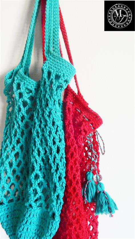 pattern crochet market bag simple stylish market bag morale fiber