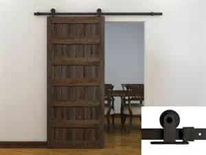 Barn Door Tracks 6ft Coffee Modern European Style Barn Wood Sliding Door Hardware Track Set Ebay