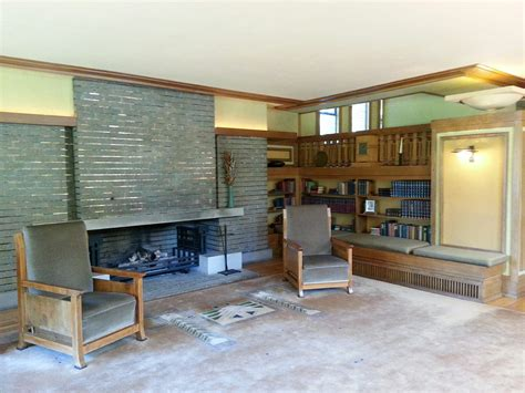 designing a fireplace with frank lloyd wright stylish