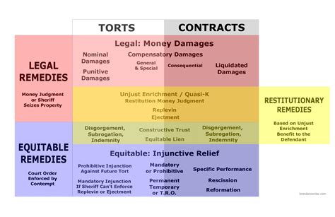 remedies for torts and contracts visual library