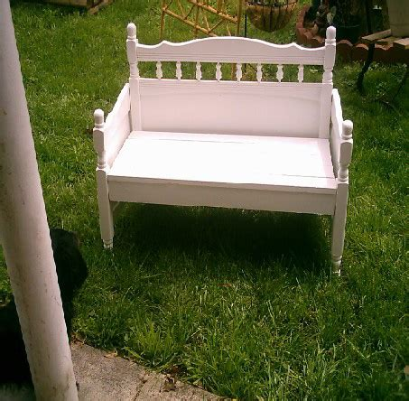 make a bench from a bed website about making benches from old bed frames so going