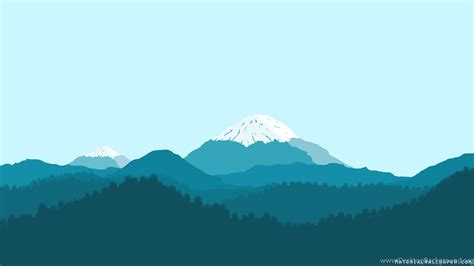minimalist mountains blue mountain material design wallpapers collection