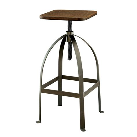 rustic industrial bar stools modern rustic industrial adjustable bar stool counter