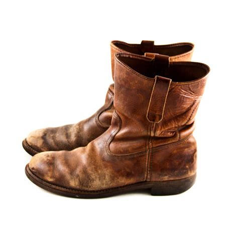 leather boots vintage leather boots s rustic distressed worn