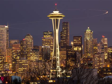 seattle space needle at wallpaper