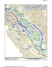 map of california aqueduct central valley project
