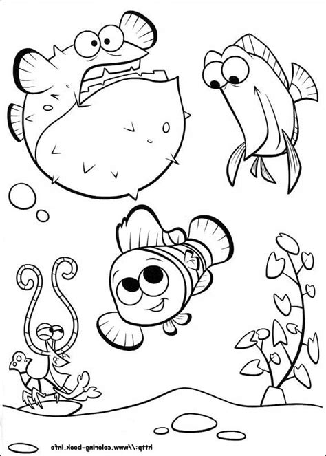 coloring pages of nemo finding nemo coloring page and disney coloring page