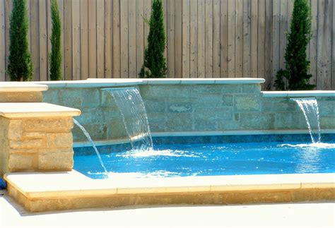 pool fountain ideas swimming pool fountains with waterfalls and lights home
