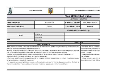 plan anual 2016 slidesharenet plan curricular anual octavo egb 2015 2016