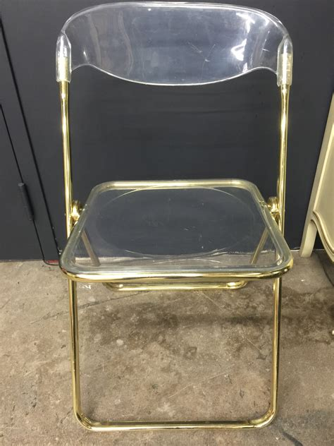 Folding Lucite Chairs - brevattato lucite gold folding chair the savoy flea