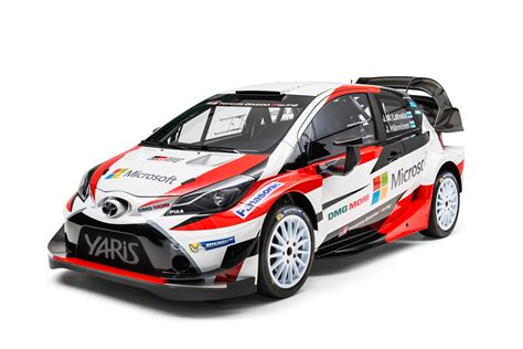 toyota rally car toyota yaris wrc rally car revealed for 2017