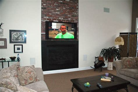 flat screen tv mounted fireplace how should i run wiring for my above fireplace mounted tv